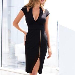 Boston Proper | Sexy Black Zipper Dress - M5